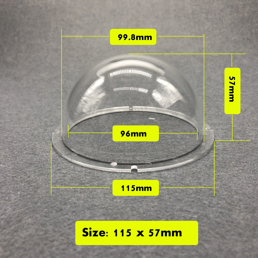 4 inch Acrylic Ball Cover Plexiglass Enclosure Camera Waterproof Protection Case Transparent Security Camera Housing 115x57mm