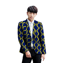 African print mens blazer handmade Men leisure suit jacket wedding/party Blazer coat male clothing