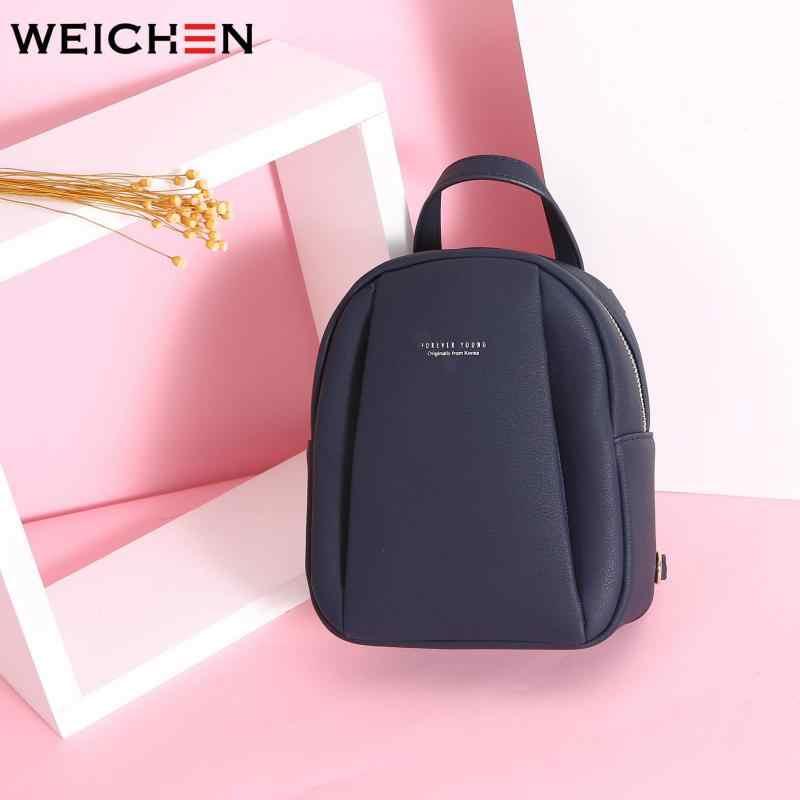 Weichen Fashion Mini Ransel Wanita Ritsleting Berkualitas Tinggi Wanita Ransel Merek Desain PU Kulit Perjalanan Ransel Anak Perempuan