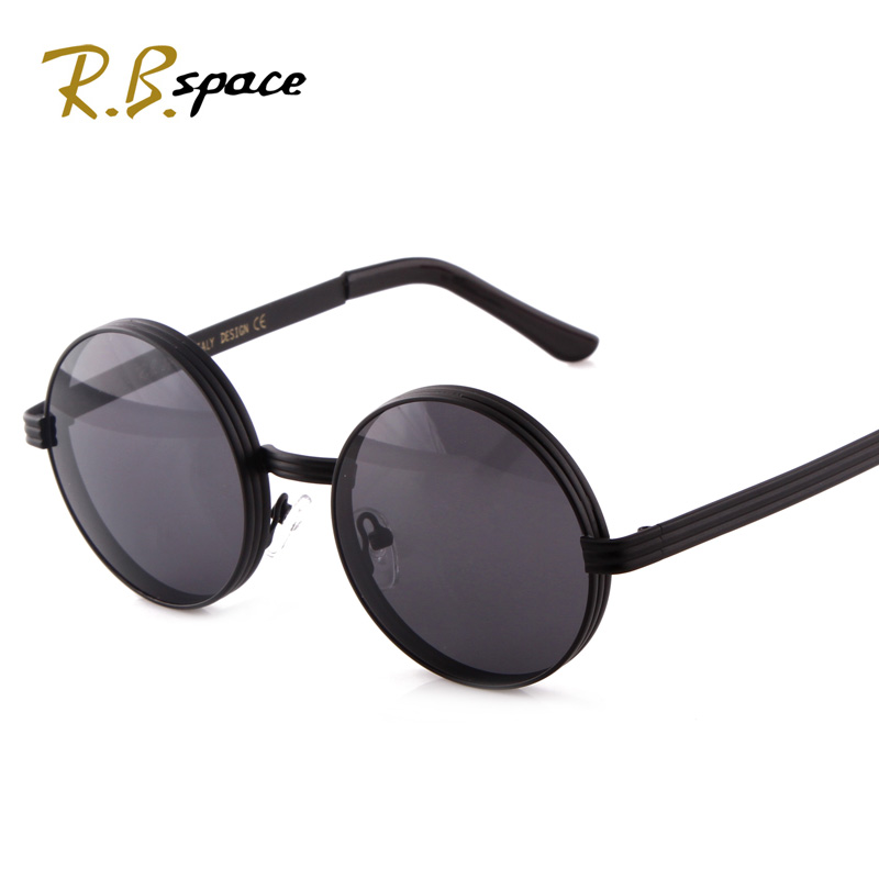 Vintage Big Circle Sun Glasses Female Sunglasses Star Men Big Box Prince's Mirror Male Glasses Black Round Box Sunglasses