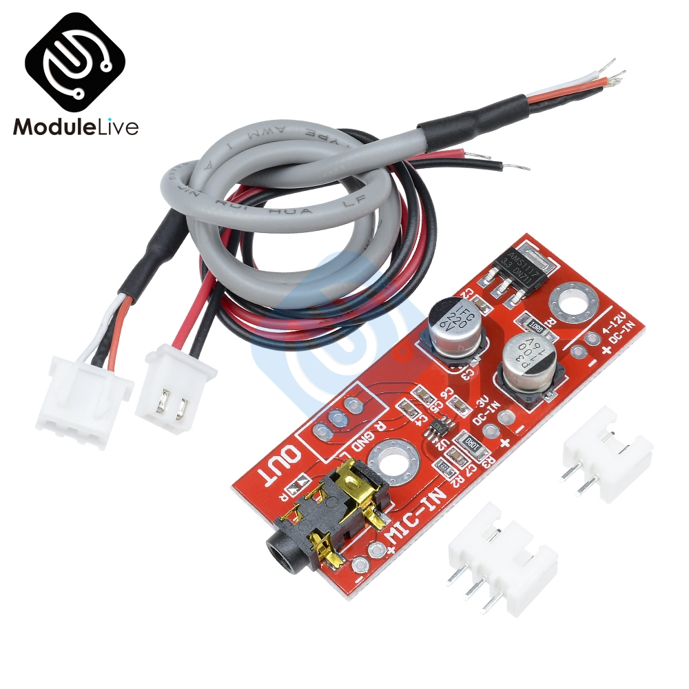 Hot Sale 1pcs Max9812 Electret Microphone Amplifier Board Sound Mic Preamp Circuit Voice Module 3v 5v 12v Input