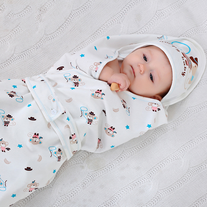 baby sleeping bag 100% cotton 90*90cm crib bedding set toddler swaddle blanket baby sheets bath towel