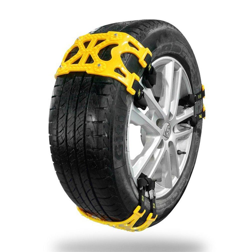 6 pièces voiture pneu anti-dérapant chaîne voiture neige route pneu anti-dérapant chaîne universelle antidérapante chaîne hiver épaisse chaîne
