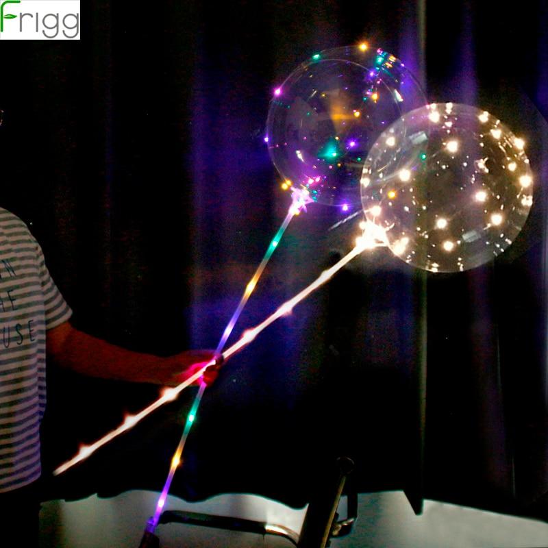 Two Lighting Properties Reusable Luminous LED Balloon Transparent Bubble Birthday Party Wedding Decoration