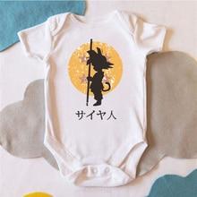 DERMSPE 2019  New Summer Newborn Baby Boys Girls Cotton Short Sleeve Letter Monkey King Romper Jumpsuit Clothes White Hot