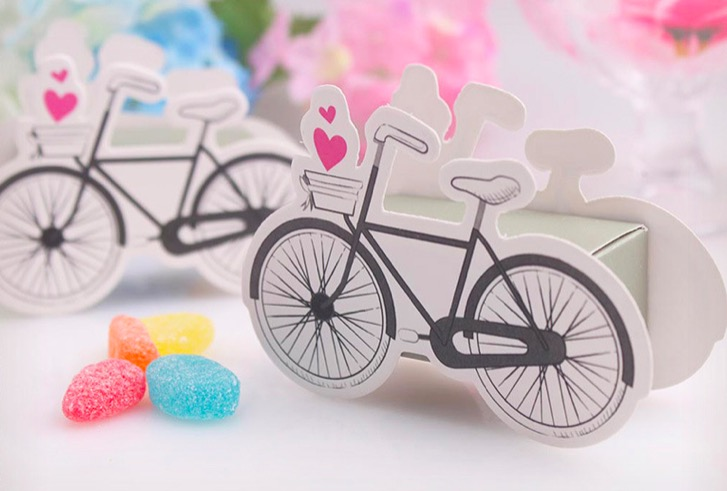 100 Pieces Bicycles birthday Wedding CANDY Boxes favor Gift box cycling fiesta wedding souvenirs Gifts for guests marriage