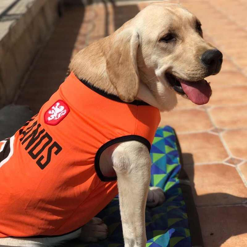 6a695de65 2018 Summer Sports Big Dog Vest Cotton Pet Cat T-shirt Outfit For Small  Large