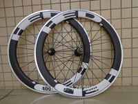 1pair New 700C 60mm Clincher Rim Road Bike Matt UD Carbon Bicycle Wheelset With Alloy Brake