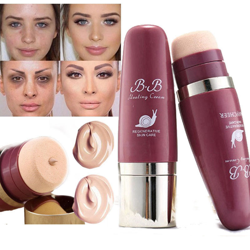 Makeup Foundation Cream Oil control Concealer Matte Base BB Cushion Face Full Coverage Professional Make Up-in Face Foundation from Beauty & Health