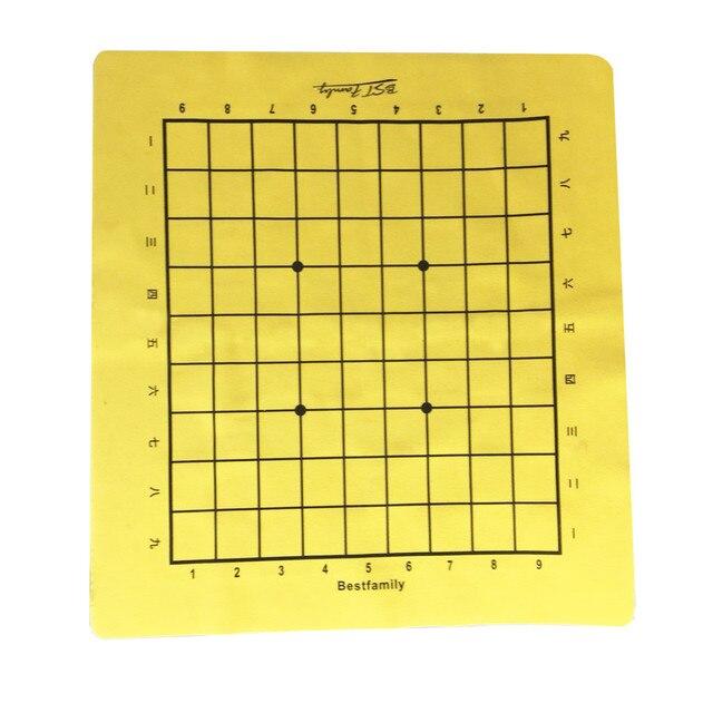 Ensemble de pièces en cuir PU, plateau d'échiquier pliable de 46x50cm ou Shogi, plateau d'échecs IB4 de 45x50mm 4