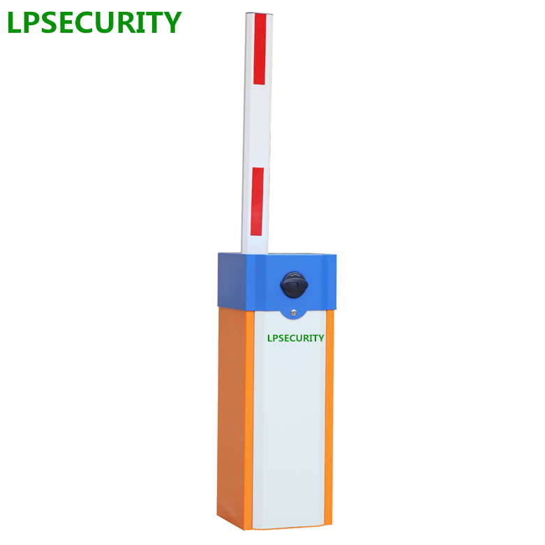 LPSECURITY automatic electric boom barrier gate car parking barrier 2 remote control with 3s opening time 4.5m telescopic arm недорго, оригинальная цена