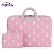 Augmick Laptop Bag Case for Macbook Air Pro 13 14 15 Zipper Bags Carry Pouch Cover for Asus Lenovo handsel Same color power pack