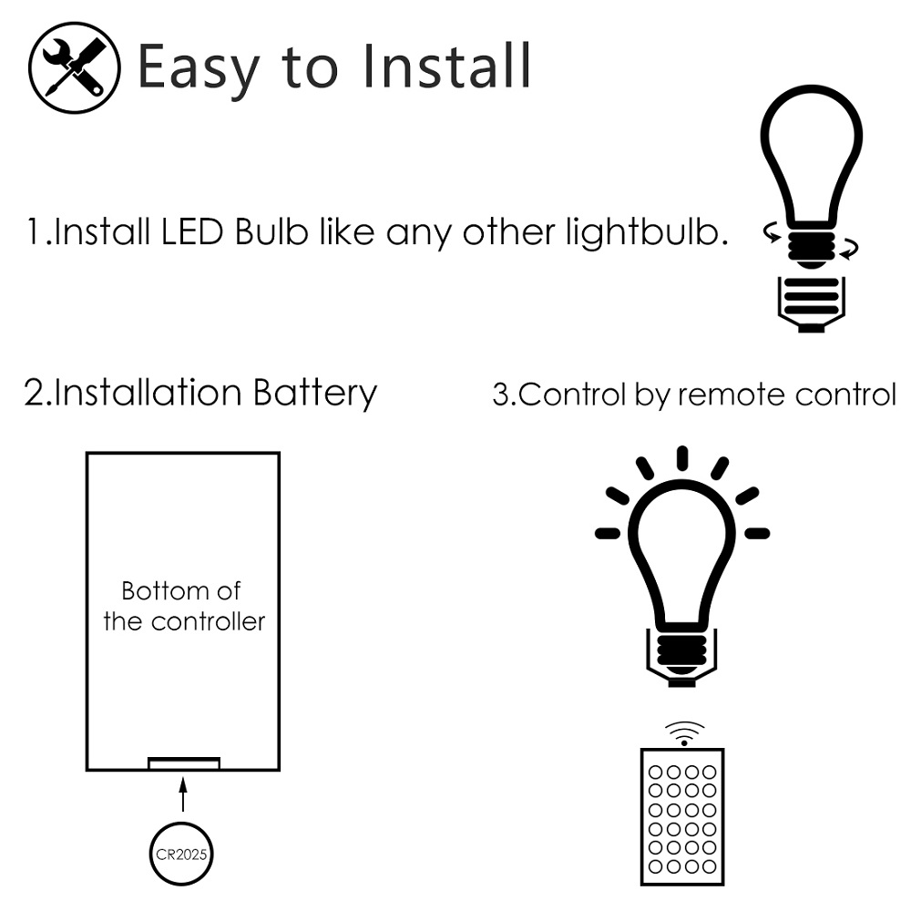 Image 5 - E27 LED Bulb 10W 15W White + RGB16 Color LED Lamp  AC85 265V 110V 220V Changeable RGB Bulb Light With Remote Control + Dimmable-in LED Bulbs & Tubes from Lights & Lighting