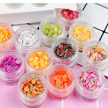 Fun Fruit Slices Filler For Nails Art Tips/Balls Slime Modeling Clay For Kids DIY Accessories Supplies Decoration girl gift(China)