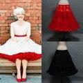 Em Estoque Underskirt Anáguas Coloridas preto Branco Vermelho de Babados 1950 s Vintage Tulle sob a Saia Para O casamento frete grátis