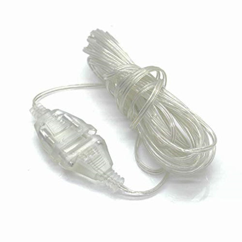 New 3m Plug Extender Wire Extension Cable EU/US Plug For LED String Light Christmas Wedding Party Home Decoration 2