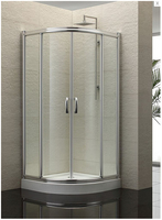 2019 new design wholesale shower cabins clear tempered glass shower screen shower enclosure with sliding door AXB900S