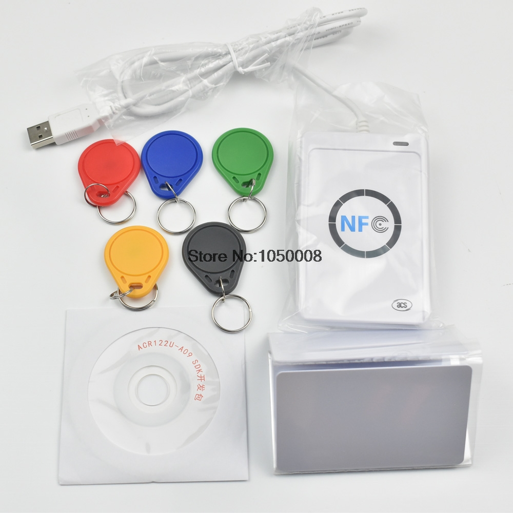 ACR122u 13.56Mhz NFC Reader Writer RFID Copier Duplicator + 5pcs UID Card + 5pcs UID  Tag +SDK Software