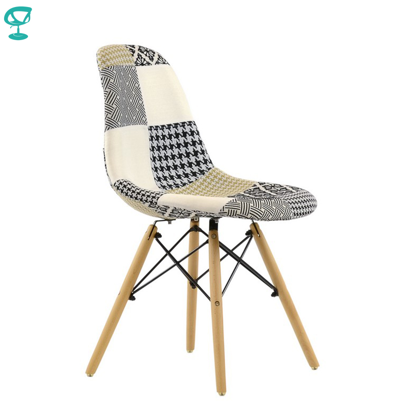95232 Barneo N-12 Fabric Patchwork Wood Kitchen Breakfast Interior Stool Bar Chair Kitchen Furniture  Free Shipping In Russia