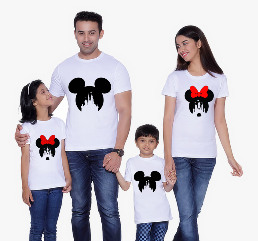 Mouse T-shirt Family Matching Clothes Mommy And Me Clothes Short Sleeve Shirt Minni Matching Outfits T-shirt  Boys Clothes