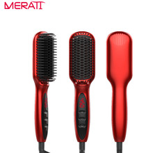 Cheaper 2017 New Styler Hair Care Styling Tools Anion Hair Straightening Comb Electric Hair Straighteners Brush for long Hair beauty
