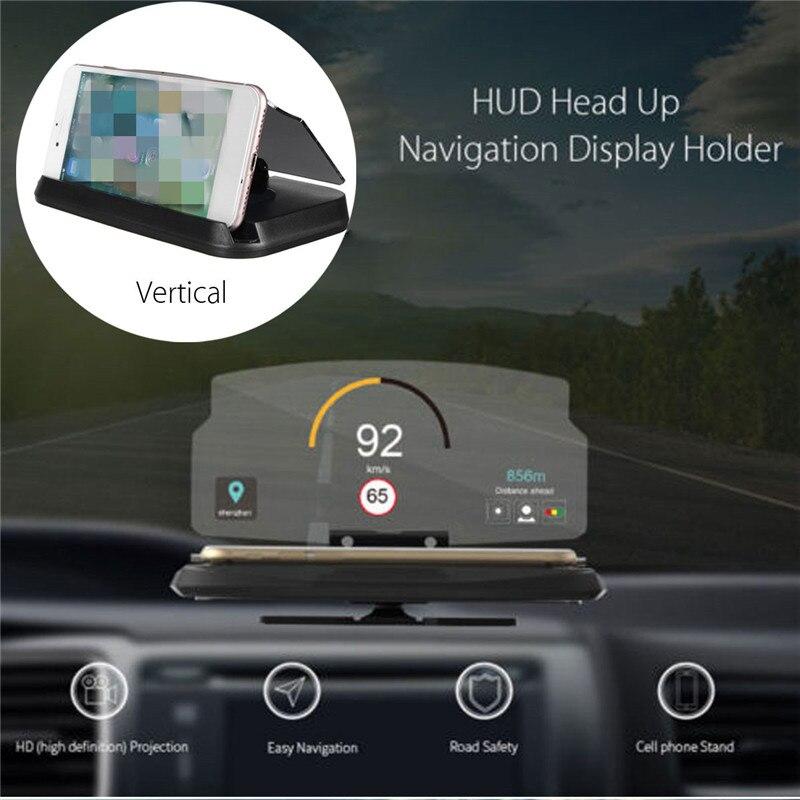 Универсальный Автомобиль <font><b>HUD</b></font> Дисплей навигации проецирования GPS телефон кронштейн держатель