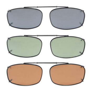e4cfb8ff1 C62 Mix eyekepper gris/marrón/G15 lente 3-pack polarizadas Clip-on Gafas de  sol 52x32mm