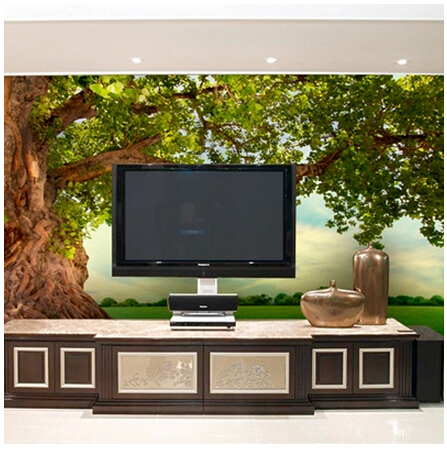 The new large-scale stereoscopic 3D green forest mural 3D wallpaper the living room sofa backdrop tree of life love the sea of large mural decoration wallpaper hotel cafe bar club dream forest