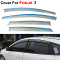4pcs/lot Auto Window Visors For Ford Focus 3 Sedan Hatchback 2012 2013 2014 Sun Rain Shield Stickers Car Styling Awnings Shelter