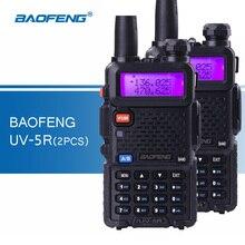 2pcs Original Baofeng UV-5R Walkie Talkie Handy Transceiver VHF UHF Dual Band Handheld Ham Radio uv5r Walkie-talkies for Hunting