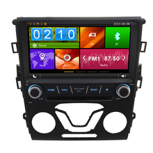 2 Din7″ Dual Core Car Radio For F ord 2014 M ondeo Gps Steering Wheel Control Rearview camera Equipment Screen touch Bluetooth