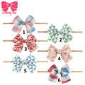 6Pcs/lot Baby Nylon Headband Fabric Top Knot Headband Baby Headbow Elastic Bows Ties For Infant Baby Hair Accessories