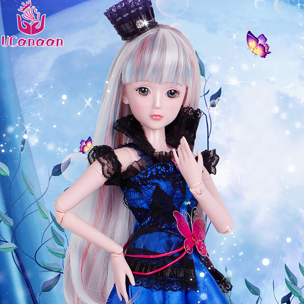 Ucanaan 1/3 BJD/SD Doll 19-Jointed Best Value Fashion Toys For Baby Outfit Clothes Shoes Wigs Makeup Pretty Doll For Girls