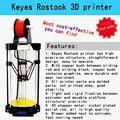 2016 NOVO! alta Qualidade KEYES DIY 3 D Rostock Impressora com PDF, DIY Kit para 3 D Entradas