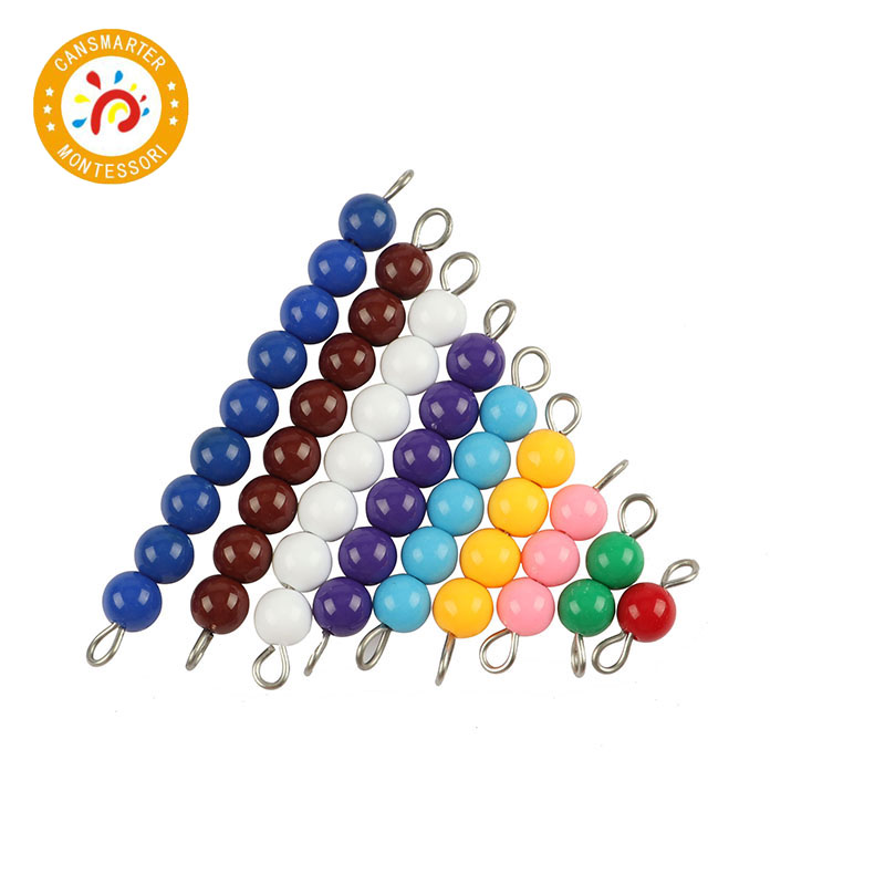 Montessori Math Baby Toy Colorful Beads 1 to 9 Teaching Aids Wood Board Education Preschool Kids in Math Toys from Toys Hobbies
