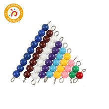 Montessori Math Baby Toy Colorful Beads 1 to 9 Teaching Aids Wood Board Education Preschool Kids
