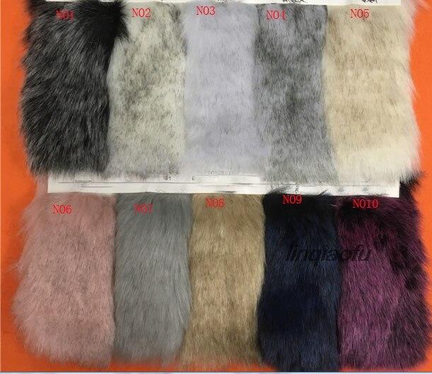 Haute qualité bicolore imitation fourrure de renard doux renard teint pointe en peluche vêtements fourrure col boule de fourrure fausse fourrure fabric170cm * 90 cm