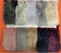 High quality two color imitation fox fur Soft fox dyed tip plush Clothing fur collar fur ball faux fur fabric170cm*90cm