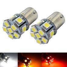 4X S25 12 LED 1156 BA15S P21W 5050 SMD 6V Auto Car Turn Lamp Reverse Tail Light Parking Led Moto Bulbs Amber