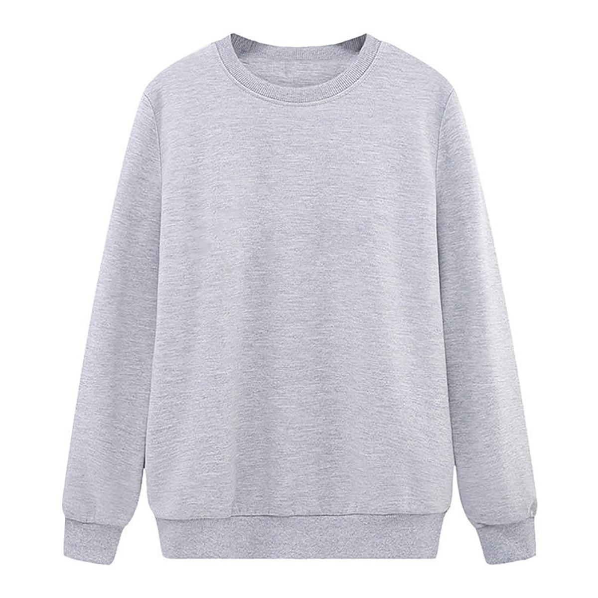 Solid Color Sweatshirt Women Casual Hoodie Fashion Winter Autumn Lasdies Pullover Fleece Black White Blue Red Gray Streetwear 9