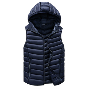 Image 2 - Winter Sleeveless Jacket Men Casual Down Vest Men Warm Thick Hooded Coats Male Cotton Pad Mens Work Waistcoat Gilet Homme L 4XL