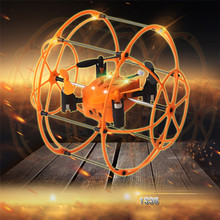 Christmas Box 2017  Offers High Quqlity Mini rc drone 1336 2.4GHz 4CH 3D Eversion Flying and Running RC Quadcopter 3D Flip Climbing Wall Roller Gift Toys