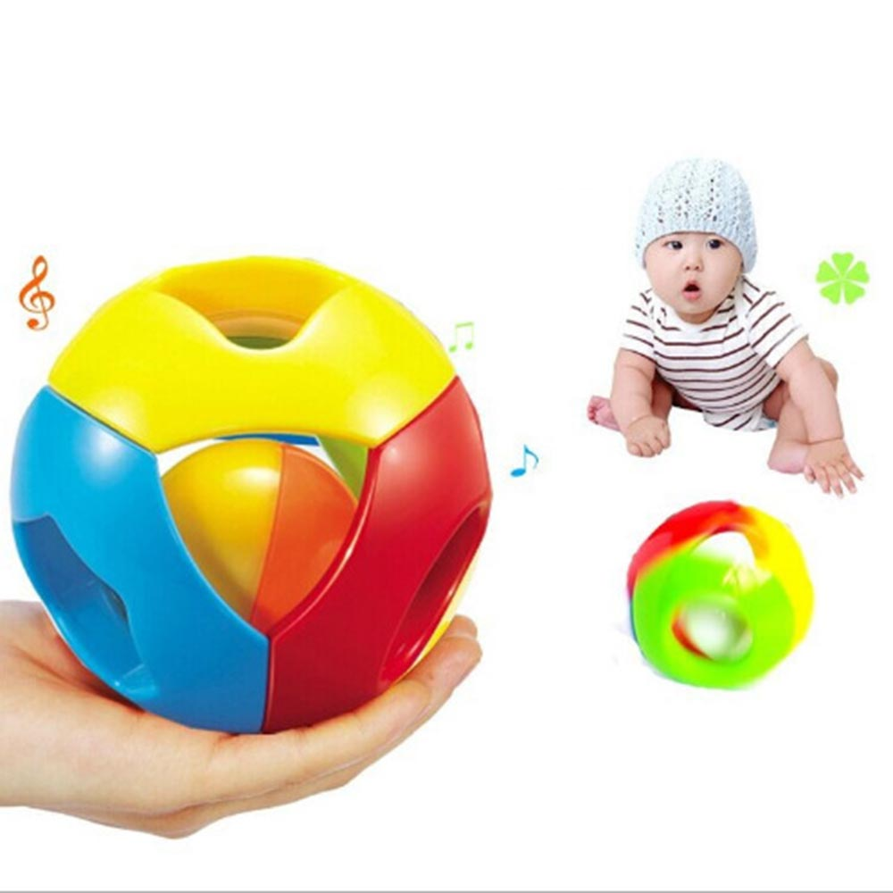 Baby Cute Plastic Rattle Shake Bendy Ball Bell Educational Training Gifts Toy