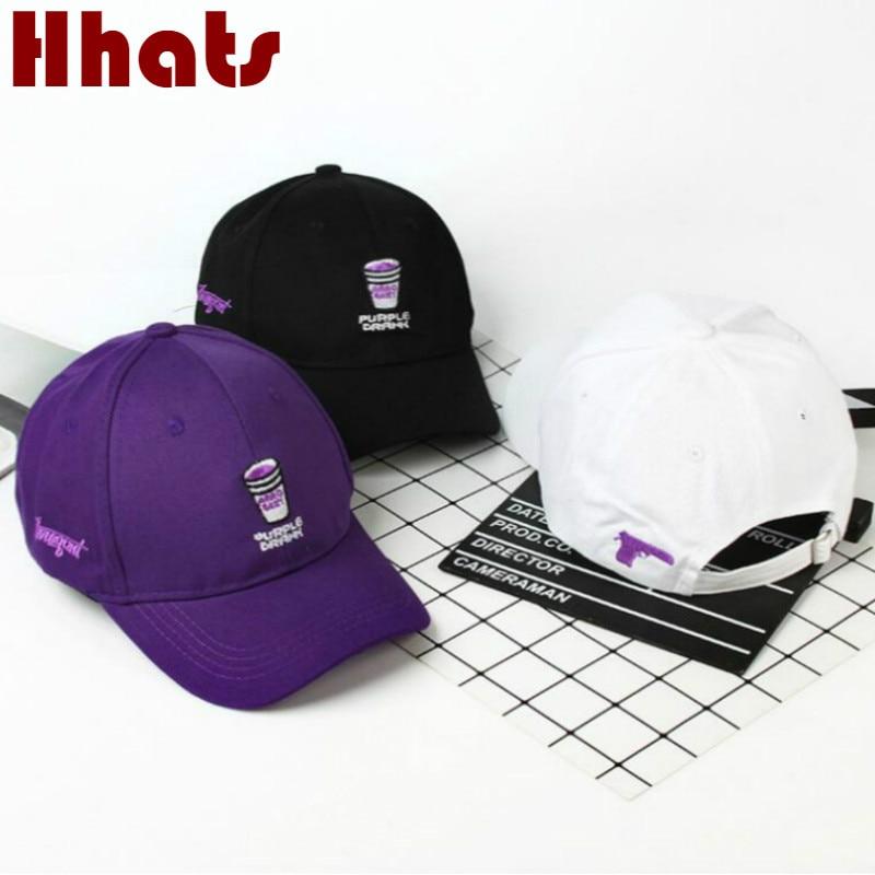 Embroidery Purple Drank Dad Hat Cap For Women Cotton Snapback Hip Hop Men Hat Cap Adjustable Curved Sports Cap Kpop Baseball Cap