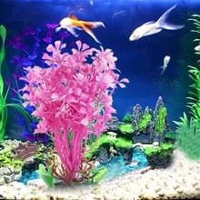 Aquarium Grama Artificial Colorful Decorate Fish Tank Aquario Decoration Aquatic Plants Ornament Background Christmas