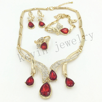 Africa Dubai Nigeria Wedding Necklace Is A Set Of 18K Plated Of The Classic Gold Bridal