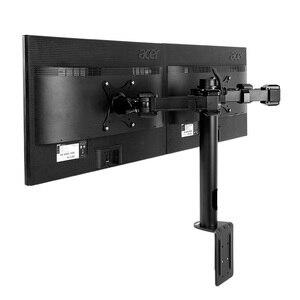 """Image 5 - Çift monitör standı kolları tamamen ayarlanabilir masaüstü iki LCD monitör duvara monte ekran standı için 10 """" 30"""" Max destek 10KG kol başına"""