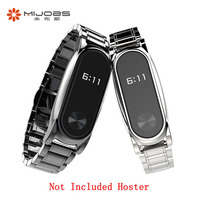 Original Mijobs Metal Wrist Strap Plus For Xiaomi Mi Band 2 Stainless Steel Smart Bracelet Wristbands