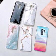 Capa on for Samsung Galaxy S9 Plus Case Marble Silicon Soft TPU Back Cover for Samsung Note 9 8 S10 S8 S7 Edge A7 2018 A50 A10 все цены
