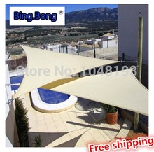 Customized hot SALE HDPE Sun-shading net 5 5 5m Canopy sunscreen awnings quality triangle anti-uv sun shadow sail awning Carport